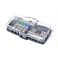 cheap Car Audio-Multi-functional LED Car Audio Stereo Mini ANL Fuse Box With 4 Way Fuse block 30A 60A 80Amp and Battery Distribution 0/4ga