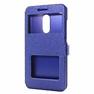billiga Mobil cases & Skärmskydd-fodral Till Xiaomi Redmi Note 4X Redmi Note 4 Plånbok med stativ med fönster Lucka Fodral Ensfärgat Hårt PU läder för Xiaomi Redmi Note