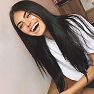 Virgin kosa Lace Front Perika Brazilska kosa Ravan kroj 130% Gustoća S dječjom kosom neprerađenih Za crnkinje Dug Žene Perike s ljudskom