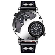 Homens Relógio Casual Relógio de Moda Único Criativo relógio Chinês Quartzo Relógio Casual Mostrador Grande Couro Banda Casual Legal