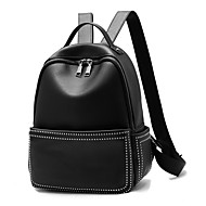 お買い得  バックパック-女性 バッグ PU バックパック ジッパー のために カジュアル オフィス&キャリア オールシーズン ブラック