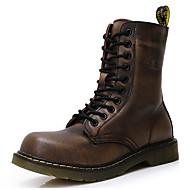 Χαμηλού Κόστους Ανδρικές μπότες-Ανδρικά Fashion Boots Νάπα Leather Φθινόπωρο / Χειμώνας Μπότες Μποτίνια Μαύρο / Καφέ / Κρασί / Πάρτι & Βραδινή Έξοδος