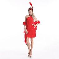 Velký Gatsby 20. léta Kostým Dámské Šaty Flapper Dress Kostým na Večírek Koktejlky Šedá Stříbrná Červená Šedá Zářivě rudá Retro Cosplay