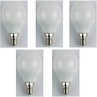 billiga Belysning-5pcs 4W 310lm E14 LED-globlampor G45 6 LED-pärlor SMD 3528 Varmvit 180-240V