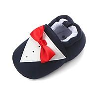 Para Meninas Sapatos Tecido Primavera Sapatos de Berço Primeiros Passos Conforto Rasos Laço Elástico para Casual Ao ar livre Preto Rosa