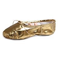 billige Ballettsko-Dame Ballettsko Lakklær / Kunstlær Flate Flat hæl Kan spesialtilpasses Dansesko Gull / Ytelse