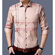 Majica Muškarci, Ulični šik Izlasci Ležerno/za svaki dan Dugih rukava Kragna košulje Sva doba Poliester