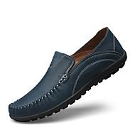 Homme Chaussures Cuir Printemps Eté Semelles Légères Mocassins et Chaussons+D6148 pour Décontracté Bleu Brun claire Kaki