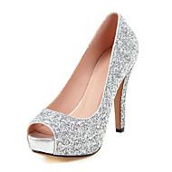 Femme Chaussures Paillette Printemps Eté Automne Chaussures à Talons Talon Aiguille Bout ouvert Paillette Pour Mariage Décontracté Soirée