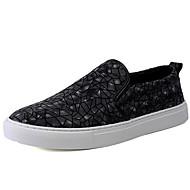tanie Small Size Shoes-Męskie Komfortowe buty Zamsz Wiosna / Jesień Mokasyny i buty wsuwane Czarny / Kawowy / Impreza / bankiet