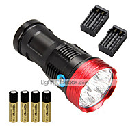 10 LED Flashlights / Torch LED 10000 lm 3 Mode Cree XM-L T6 with Batteries and Charger Impact Resistant Rechargeable Waterproof Strike