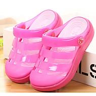 Недорогие -Мальчики обувь Кожа ПВХ  Весна Лето Удобная обувь Сандалии для Повседневные Черный Военно-зеленный Розовый