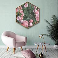 Botanikus Virágos / Botanikus Illusztráció Wall Art,PVC Anyag a Frame For lakberendezési frame Art Nappali szoba Konyha Étkező Hálószoba