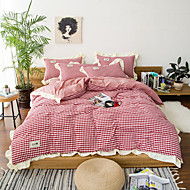 Duvet Cover Sets Contemporary 4 Piece Polyster Reactive Print Polyster 1pc Duvet Cover 2pcs Shams 1pc Flat Sheet