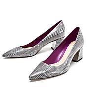 Χαμηλού Κόστους Best Sellers-Γυναικεία Παπούτσια PU Άνοιξη Φθινόπωρο Ανατομικό Τακούνια Κοντόχοντρο Τακούνι για Causal Ανοικτό Γκρίζο