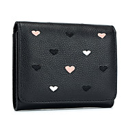 Women Bags Cowhide Coin Purse Buttons for Casual Office & Career All Season Gray Blushing Pink Black Green
