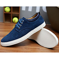 cheap Men's Sneakers-Men's Comfort Shoes Suede Spring / Fall Sneakers Blue / Camel / Burgundy