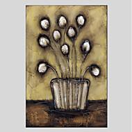 Pintados à mão Floral/Botânico Modern Tela Pintura a Óleo Decoração para casa 1 Painel