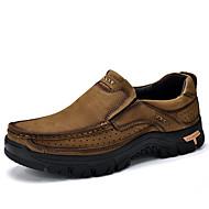 baratos Sapatos de Tamanho Pequeno-Homens Couro Sintético / Pele Primavera / Outono Conforto Mocassins e Slip-Ons Khaki / Verde Escuro