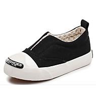 baratos Sapatos de Menina-Para Meninas Sapatos Lona Outono / Inverno Conforto Tênis Caminhada Rendado para Preto / Vermelho / Rosa claro