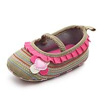 お買い得  ベビー用靴-女の子 靴 繊維 春夏 コンフォートシューズ / 赤ちゃん用靴 / 幼児用靴 フラット アップリケ / ゴア のために Brown / ピンク / カーキ色