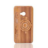 billiga Mobil cases & Skärmskydd-fodral Till HTC Stötsäker Skal Geometriska mönster Hårt Bambu för HTC One M7