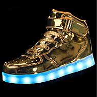 お買い得  子供シューズ-男の子 靴 PUレザー 春 秋 ライトアップシューズ スニーカー のために カジュアル ゴールド ホワイト ブラック シルバー レッド