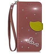 billiga Mobil cases & Skärmskydd-fodral Till LG G2 LG G3 LG LG G5 LG G4 G6 Korthållare Plånbok Strass med stativ Lucka Fodral Ensfärgat Hårt PU läder för LG G6