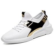 お買い得  メンズ アスレチックシューズ-メンズ 靴 ラバー 春 秋 コンフォートシューズ アスレチック・シューズ ウォーキング リボン紐 のために ゴールド ホワイト ブラック