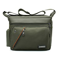 cheap Shoulder Bags-Unisex Bags Nylon Crossbody Bag Zipper for Casual Outdoor Winter Fall Blue Green Black Gray
