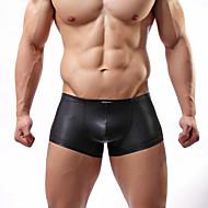 男性用 ボクサー スモーキー,純色 伸縮性なし,ポリウレタン 1個 ブラック