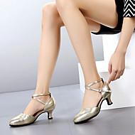 baratos Sapatilhas de Dança-Mulheres Sapatos de Dança Moderna Pele Salto Salto Personalizado Personalizável Sapatos de Dança Preto / Prata / Vermelho / Interior