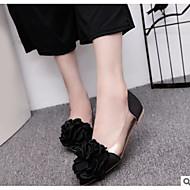 tanie -Damskie Obuwie PU Wiosna Comfort Buty płaskie Mieszkanie Buty zamknięte na Casual Black Gray Różowy