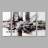 Maalattu Abstrakti Pysty,Moderni Kanvas Hang-Painted öljymaalaus Kodinsisustus 3 paneeli