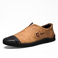 Homme Chaussures Similicuir Printemps Automne Confort Mocassins et Chaussons+D6148 pour Décontracté Noir Jaune Kaki