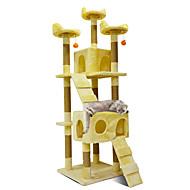 Gato Casinhas Madeira Desenho Artístico Animais de Estimação Delineadores Sólido Moderno Jumping Multi Camadas Macio Dobrável presente