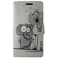 billiga Mobil cases & Skärmskydd-fodral Till Huawei P8 Lite Korthållare Plånbok med stativ Lucka Fodral Elefant Hårt PU läder för Huawei