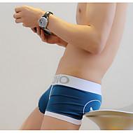 Homens Fina Cuecas, Com Stretch Simples, Algodão Poliéster 1 Azul