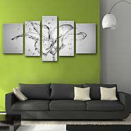 billiga Tryck-Kanvas Tryck Rustik Moderna, Fem paneler Duk Vertikal Tryck väggdekor Hem-dekoration