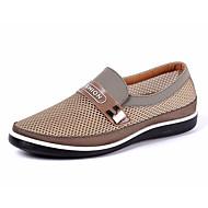 baratos Sapatos Masculinos-Homens Com Transparência Verão / Outono Conforto Sandálias Bege / Cinzento / Café
