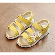 お買い得  女の子用靴-女の子 靴 レザーレット 夏 コンフォートシューズ サンダル のために ホワイト / イエロー / ピンク