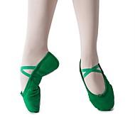 billige Ballettsko-Barne Tenåring Ballett Lerret Flate Flat hæl Mørkegrønn Kan spesialtilpasses