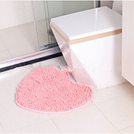 cheap Bathroom Products New Arrivals-Casual Bath Mats Polyester Solid Heart Shaped