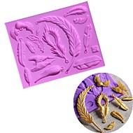 billige Bakeredskap-ulike fjærblad vinger form silikon kake mold diy bakeware mold chocolate fondant dekorasjon verktøy