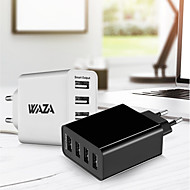 billiga Mobil cases & Skärmskydd-Laddningsskal USB-laddare EU-kontakt Snabbladdning / Flera portar 4 USB-portar 5 A för iPhone 8 Plus / iPhone 8 / S8 Plus