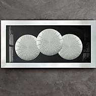 billige Innrammet kunst-Abstrakt Veggkunst,Tre Materiale med ramme For Hjem Dekor Rammekunst Innendørs Spisestue
