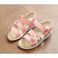baratos Sapatos de Menina-Para Meninas Sapatos Courino Verão Conforto Sandálias para Branco / Amarelo / Rosa claro