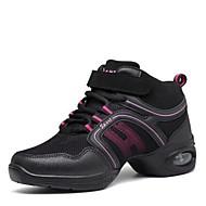 baratos Sapatilhas de Dança-Tênis de Dança Malha Respirável Têni Salto Baixo Personalizável Sapatos de Dança Preto e Dourado / Preto / Vermelho