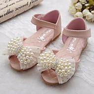 baratos Sapatos de Menina-Para Meninas Sapatos Couro Primavera / Verão Conforto / Sapatos para Daminhas de Honra Sandálias para Bege / Rosa claro / Peep Toe