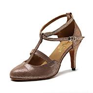 billige Moderne sko-Dame Moderne Kunstlær Sandaler Joggesko Fest Trening Trimmer Stiletthæl Gull Kan spesialtilpasses